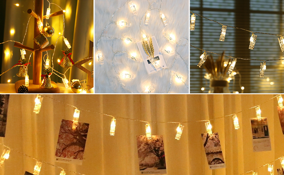 Photo Hanging Clips String Light Photo Clips Lighted Photo Clip String Photo Clip Led String Lights