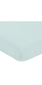 Solid Blue Unisex Boy or Girl Baby or Toddler Nursery Fitted Crib Sheet