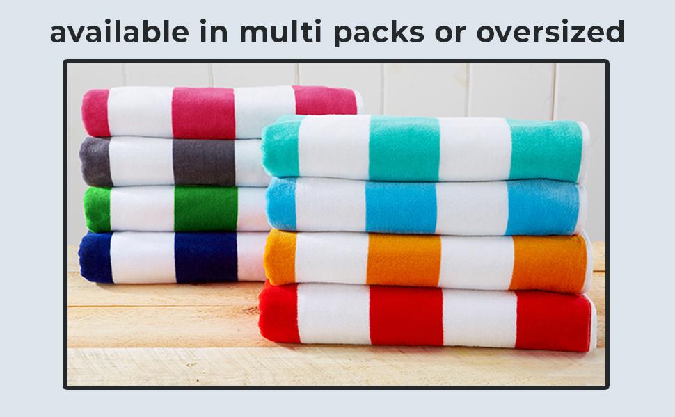 multi pack beach towel, oversized beach towel