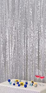 Silver 5FT x 7FT Sequin Photography Backdrop