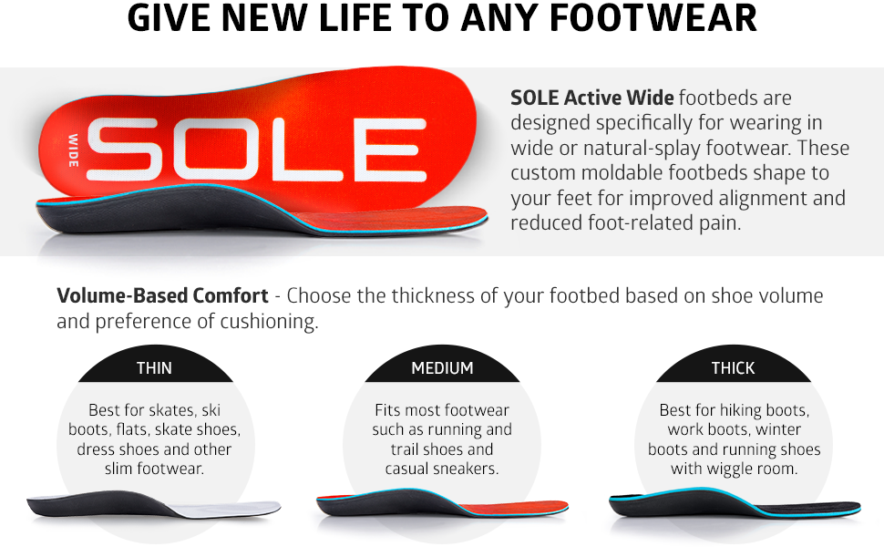 wide width natural splay gait cushion corrective footwear design custom heat moldable alignment foot