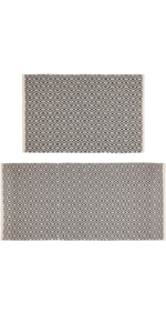Pauwer Cotton Area Rug Set 2 Piece 2'x3'+2'x4.3'