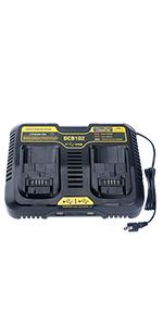 Battery Charger for DEWALT 12V 20V Lithium Battery DCB205