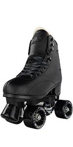 pop roller adjustable quad skates rollerskates crazy derby boys men adjust four 4 sizes leather