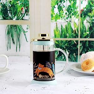 top tier french press coffee maker mini small glass french press coffee press tea maker