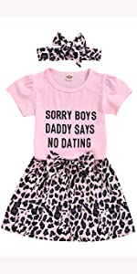 3Pcs Toddler Baby Girl Outfit