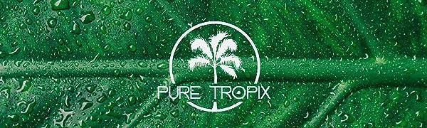 Pure Tropix Ingrown Hair Scrub Cleanser Elixir Blackhead Remover Acne Scar Cream Vitamin E C A Oil