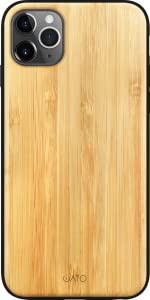 iATO iPhone 11 Pro Max Case Real Natural Dark Bamboo Wood Cover. Fully Protective Shockproof Classy