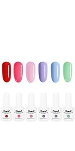 Color Gel Nail Polish Set