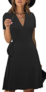Fit and Flare Ture Wrap Dress