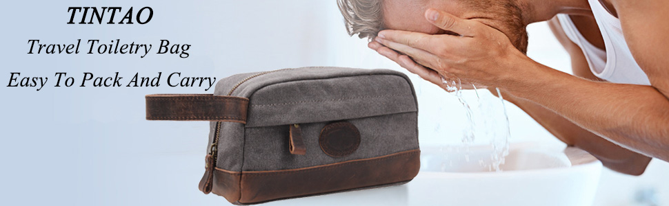 TINTAO travel toiletry bag, easy to pack and carry.
