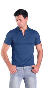 blue mens henley shirt