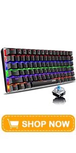 AK33 Mechanical keyboard Mixed Blue Switch