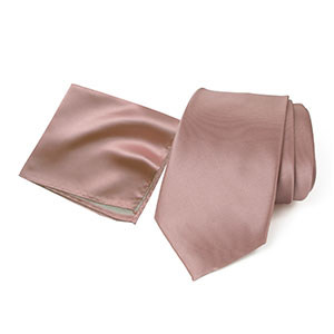 spring notion, pink copper, rose, hanky, neck ties, men, accessories, satin, microfiber, polyester