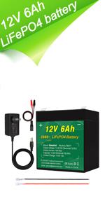 12V 6Ah battery