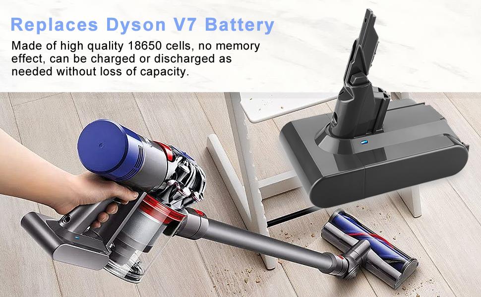 4.0Ah 21.6V Replacement Battery Compatible with V7 Motorhead Pro Trigger V7 Animal Car+Boat V7 Handheld Vacuum Cleaner