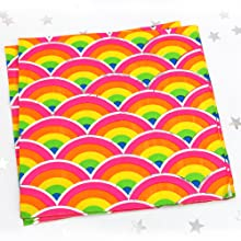 Rainbow Unicorn Lunch Napkins with sparkle foil gay pride
