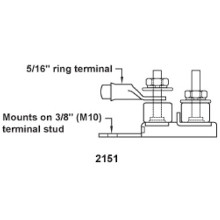 "Diagram Dual Stud Terminal MRBF Fuse Mount 2151 5/16"" Ring Terminal"