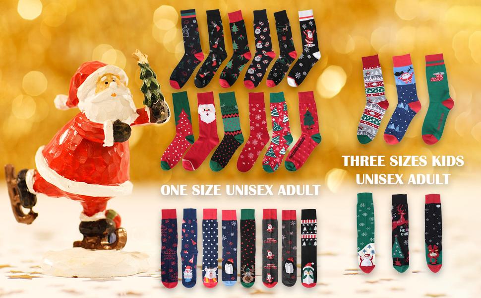 christmas socks kids adult mens dress funny novelty cotton socks festival fun socks family socks