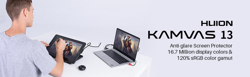 HUION Kamvas 13 pen display drawing tablet