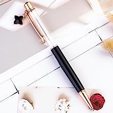 black crystal empty tube floating pen