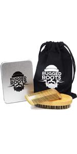 Boar Bristle Beard Brush Sandalwood Beard Comb