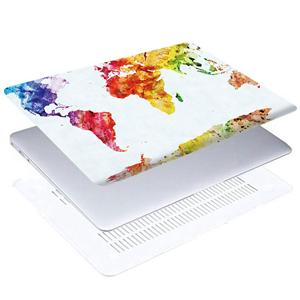 Watercolor map laptop case