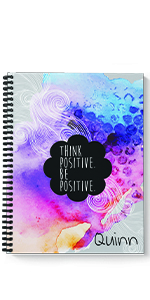 Think Positive personalized spiral notebook