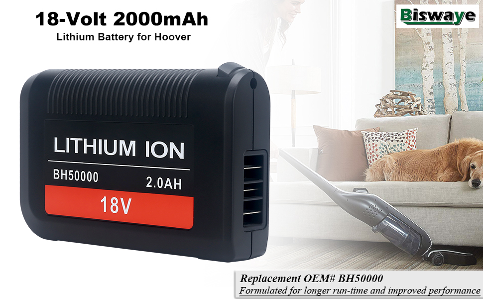 18V Lithium Ion Battery for Hoover LiNX  BH50000 302723001 BH50015 BH50010 Cordless Vacuum Cleaner