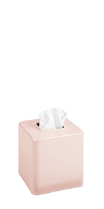 Modern Square Metal Paper Facial Tissue Box Cover Holder Bedroom Dresser Night Stand Desk Table