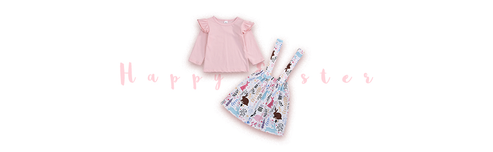toddler easter outfits skirt set