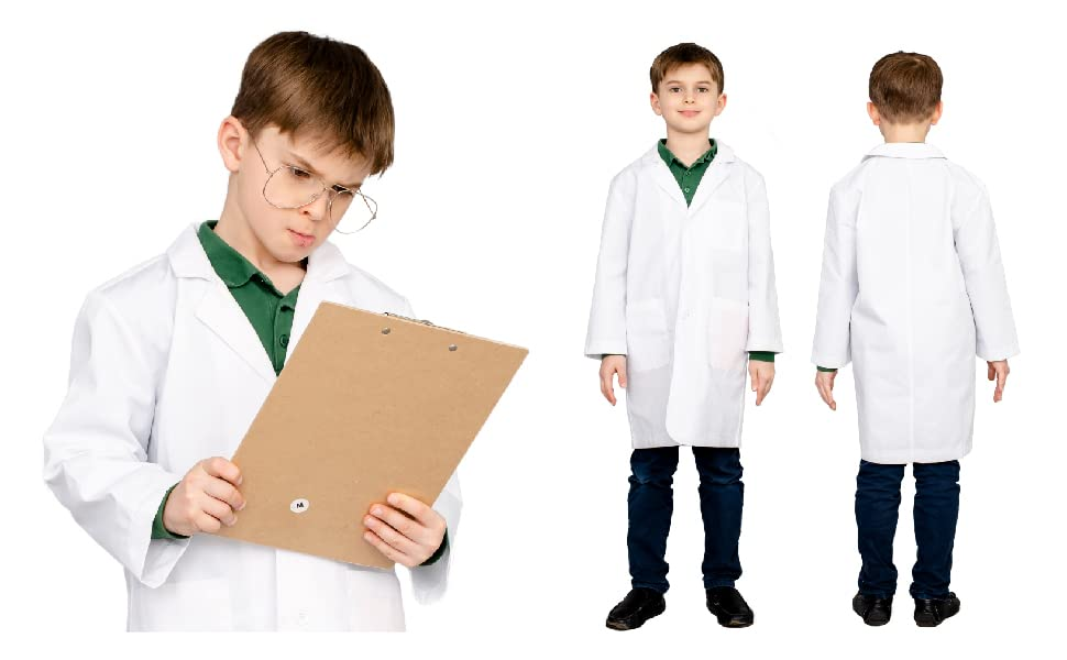 Custom Veterinarian Doctor Lab Coat Kids Vet Halloween Costume