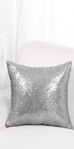 "18"" Sequin Throw Pillow Cover Shells"