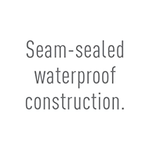 Seam-sealed waterproof construction.