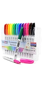 15 Color Permanent Markers