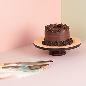folkulture gold cake leaf server