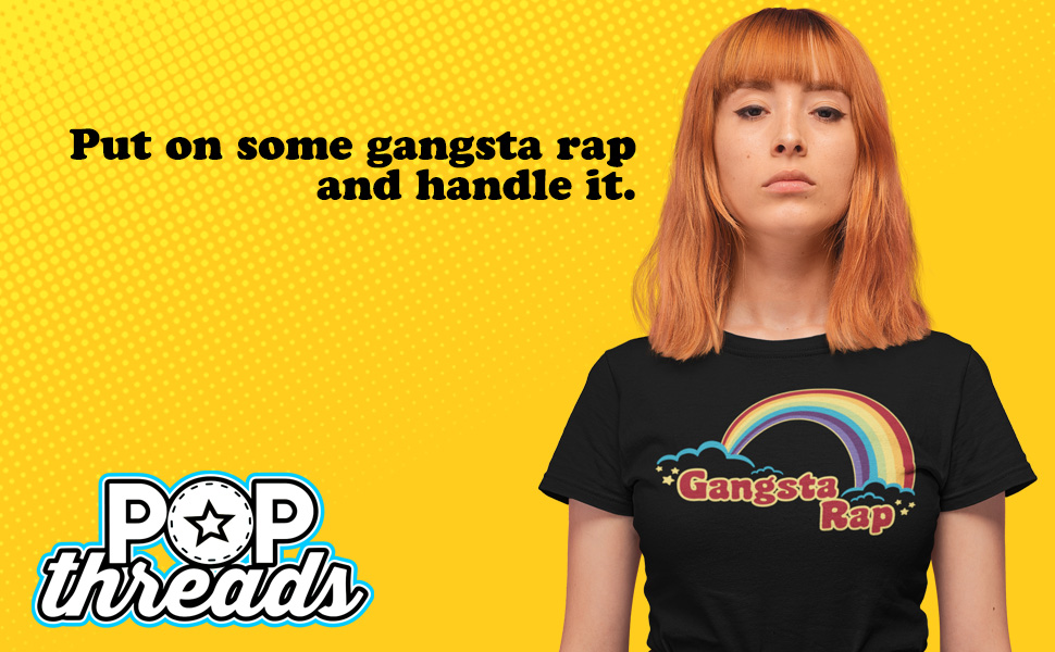 Gangsta Rap Retro Rainbow Funny Music music vintage style 1970s seventies 1980s eighties