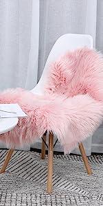 Heart Shaped Love Faux Sheepskin Fur Area Rugs