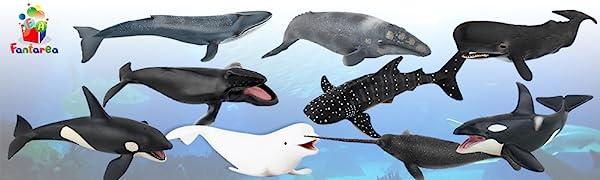 Whale Ocean Sea Animal Model Figure Bath Toy
