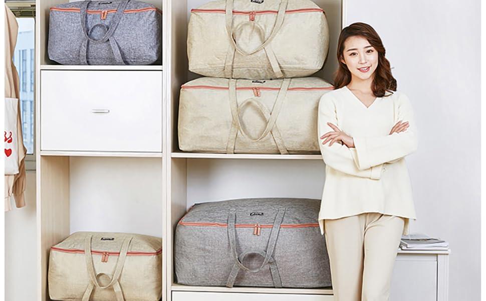 clothes comforter blanket large under bed storage bags