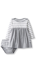 Baby/Toddler Organic Cotton Long Sleeve Dress