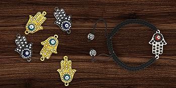 Hamsa Hand Evil Eye Charm Beads for Jewelry Making