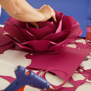 Crafting with paper backgrounds