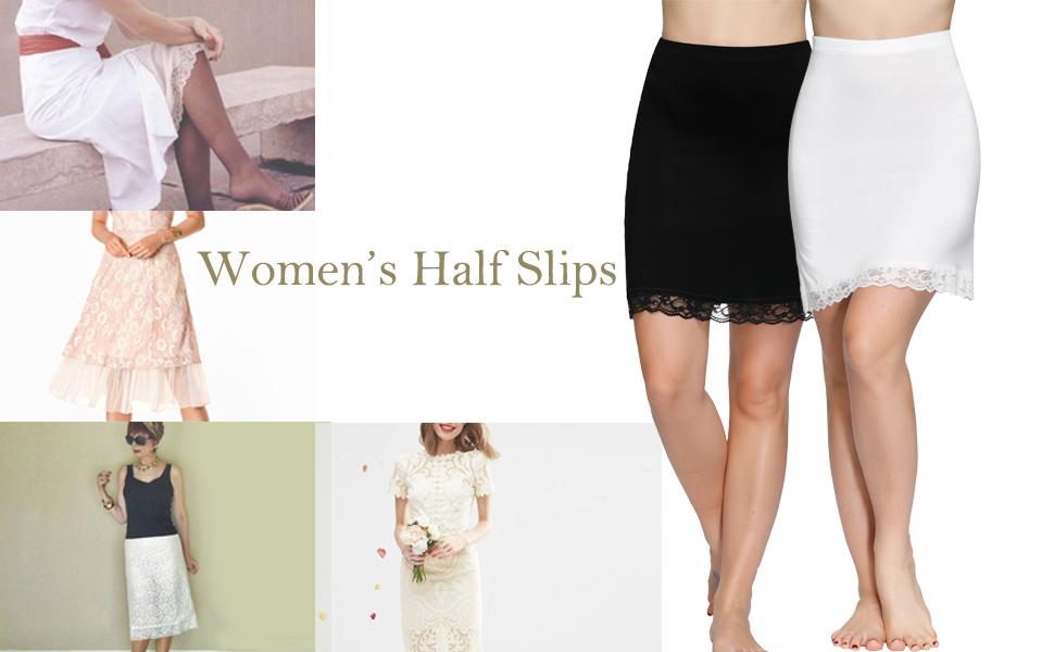 women's half slips