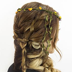 Bohemian Flower headband ponytail holder headband Bulk Ponytail Holder Flower Crown Floral headband