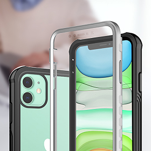 Mobile phone case with screen protection