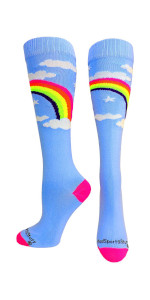 Rainbow Clouds Soccer Socks