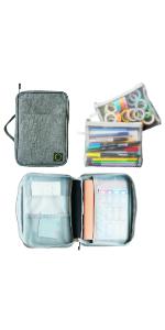 bullet journal supplies case organizer