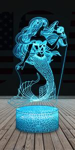 Mermaid night light for girls