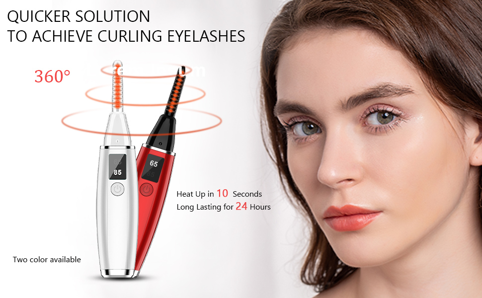 heated eyelash curler rechargeable